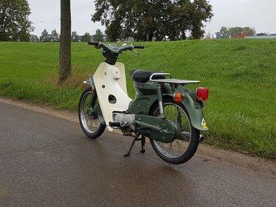 Honda C70 K1 Japans, groen, 8332km, met kenteken