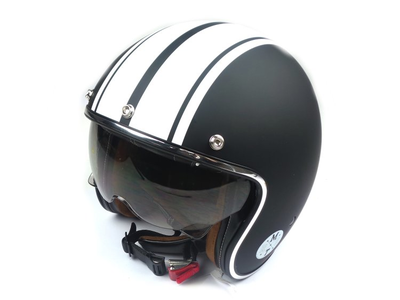 Helm MT, Le Mans Speed Mat Zwart/Wit, Maten S t/m XL