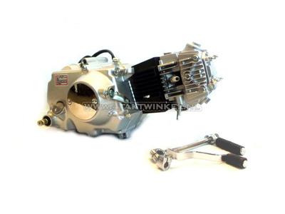 Motorblok, 107cc, handkoppeling, Lifan, 4-bak, zilver