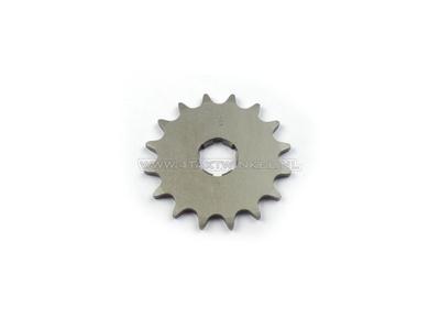 Voortandwiel, 415 ketting, 20mm as, 16, Novio, Amigo, PC50