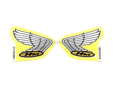 Sticker Honda wing, zilver lijntje set links & rechts, origineel Honda