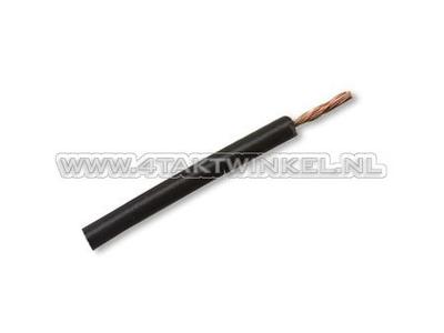 Draad per meter 0,75mm2, zwart