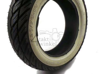Buitenband 10 inch, Kenda K418, 120/70, whitewall