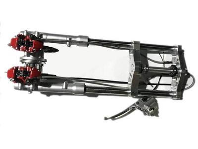 Voorvork compleet, Dax, 30mm, dubbele zwevende remschijf
