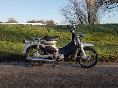 Honda Little cub, custom, 12681km, met Kenteken!