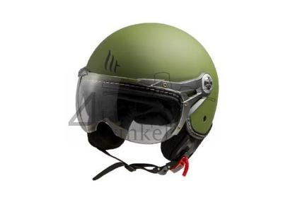 Helm MT, Le Mans Soul Retro, groen, Maten XS t/m XXL
