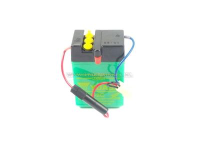 Accu 6 volt 2 ampere, Dax, NOS, origineel Honda