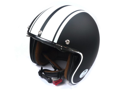 Helm MT, Le Mans Speed, Mat zwart / wit, Maten S t/m XL