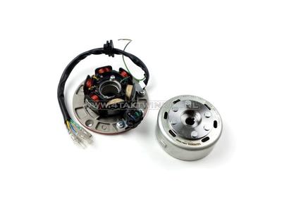 CDI ontsteking set 6v tap, SS50, CD50, C50 Dax, Takegawa vliegwiel