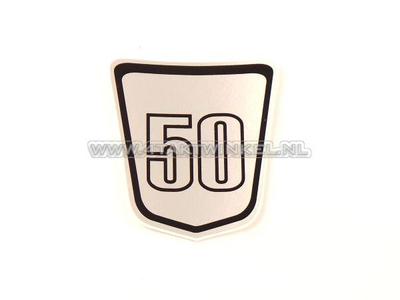 Sticker Dax embleem onder zadel, Skyteam, 50