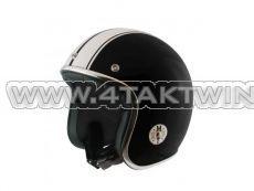 Helm MT, Le Mans, Zwart / wit, Maten S t/m XL
