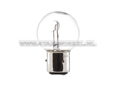 Koplamp BA21D, duplo,  6 volt, 35-35 watt, Dax 3-poot