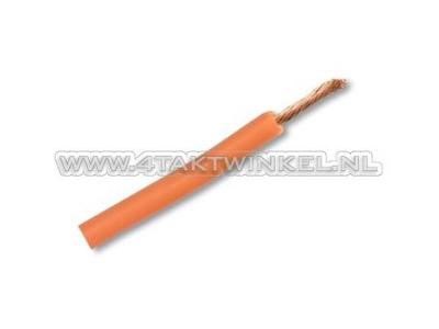 Draad per meter 0,75mm2, oranje
