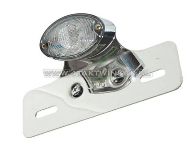 Achterlicht cateye enkel, klein, blank LED