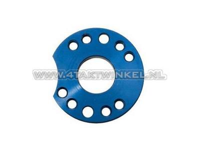 Draaiplaat voor carburateur aluminium, blauw