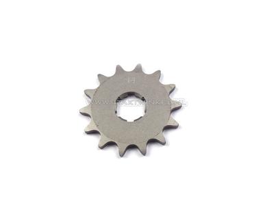 Voortandwiel, 415 ketting, 20mm as, 14, Novio, Amigo, PC50