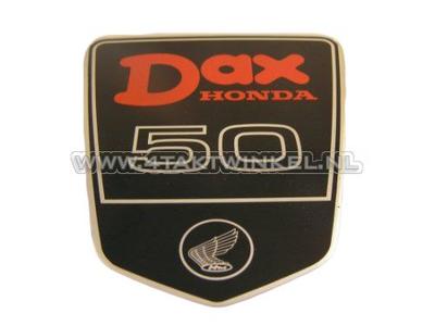 Sticker Dax embleem onder zadel groot, DAX 50, origineel Honda