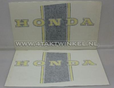 Sticker Dax frame, zwart / geel, imitatie