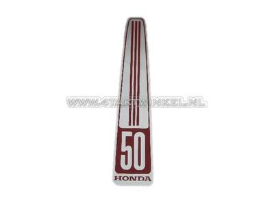 Sticker C50 OT front, langwerpig, imitatie
