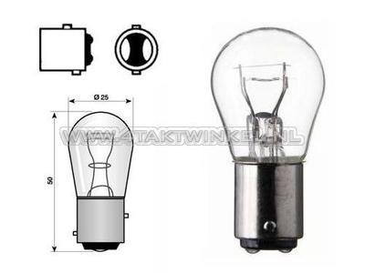 Achterlamp duplo BAY15D,  6 volt, 21-5 watt