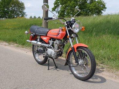 VERKOCHT! Honda CB50J, Oranje, 6250km, met kenteken