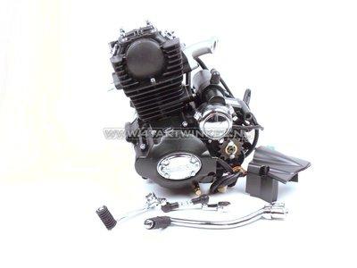 Motorblok,  50cc, handkoppeling, Lifan, (Mash) 4-bak, staande cilinder, met startmotor, zwart