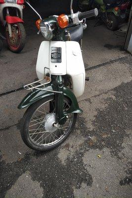 VERWACHT! Honda C50 NT Japans, groen, 4756 km