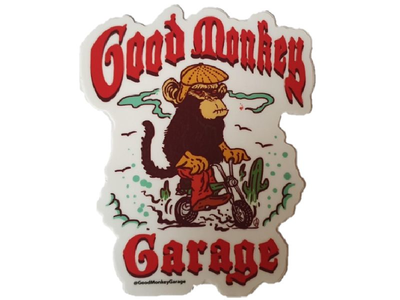 Good Monkey Garage Sticker #1