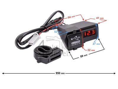 USB lader met 2 functies voor 12 volt brommer