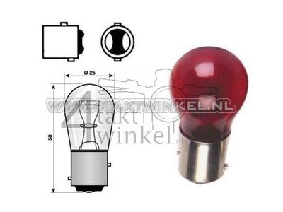 Achterlamp duplo BAY15D, 12 volt, 18-5 watt, rood