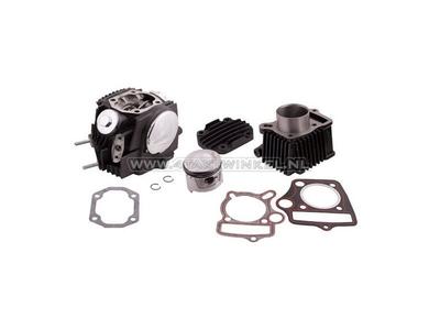 Cilinderset, met zuiger & pakking & cilinderkop 70cc, AGM, Hanway, Skyteam, met EGR aansluiting, zwart