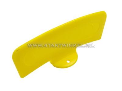 Bromfietsplaatje geel, universeel