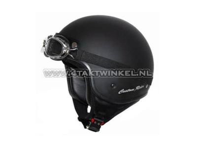 Helm MT, Custom Rider, mat zwart, Maten S t/m XL