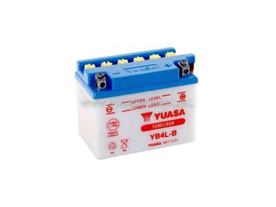 Accu 12 volt 4 ampere zuur, YB4L-B, Yuasa