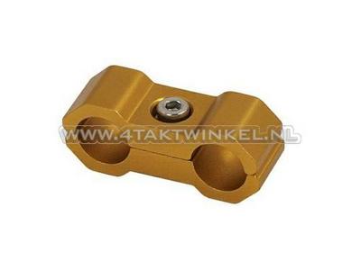 Kabel binder / klem, 6mm, aluminium, goud