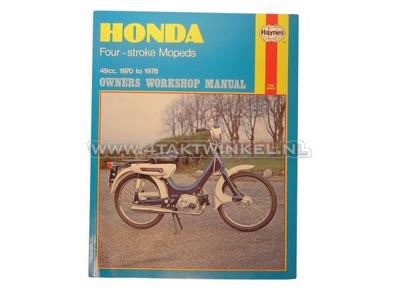 Werkplaatsboek, Honda PC50, Novio, Amigo, Haynes, origineel
