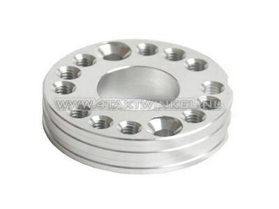 Draaiplaat voor carburateur aluminium, blank