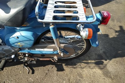 VERWACHT! Honda C50 NT Japans, blauw, 4524 km