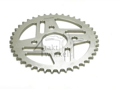 Achtertandwiel Replica Dax, Ape, PBR 42 aluminium