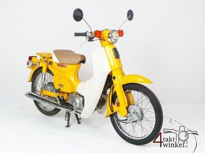 VERKOCHT: Honda C50 NT Japans, geel, 11058 km