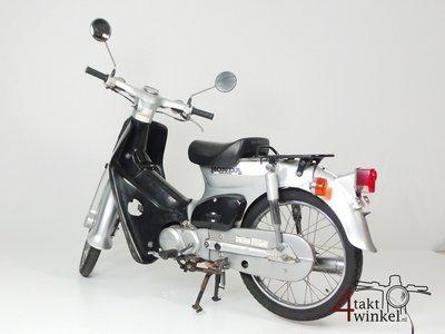 Honda C50 NT Japans, zilver, 12274 km, met kenteken