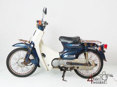 VERKOCHT - Honda C50 NT Japans, blauw, opknapper