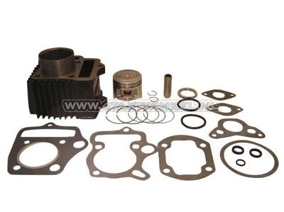 Cilinderset, met zuiger & pakking 70cc, NT50 kop 49cc opdr. staal
