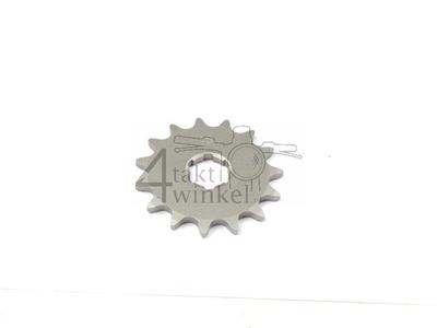 Voortandwiel, 415 ketting, 20mm as, 15, Novio, Amigo, PC50