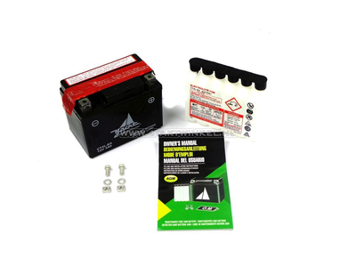 Accu 12 volt 4 ampere zuurpakket, CT4L-BS