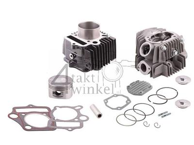 Cilinderset, met zuiger & pakking & cilinderkop 110cc, 52mm, NT, imitatie