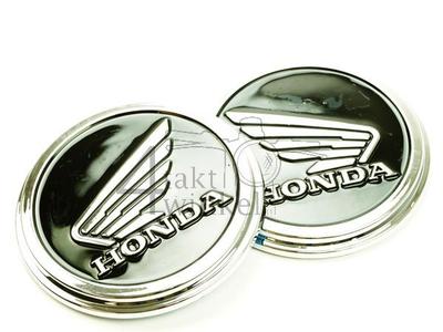 Embleem set, Honda wing, Zwart