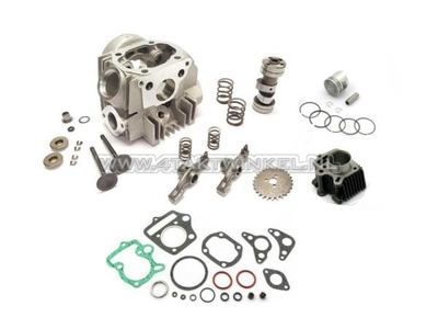 Cilinderset, met zuiger & pakking & cilinderkop 70cc, Honda OT