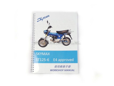 Werkplaatsboek, Skyteam Dax, 125cc, euro4