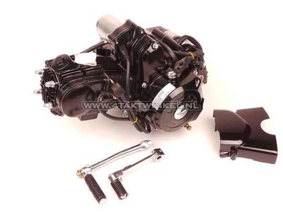 Motorblok,  70cc, handkoppeling, Lifan, 4-bak, startmotor boven, zwart